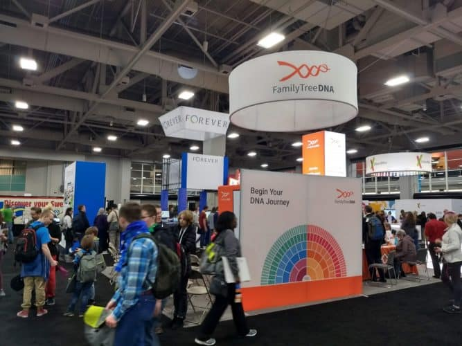 FamilyTreeDNA sin stand under Rootstech 2019 i Utah
