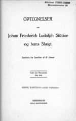 Optegnelser om Johan Friedrich Ludolph Stützer og hans Slægt