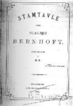 Stamtavle over slægten Bernhoft