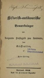 Historisk-antikvariske bemærkninger over Borgunds præstegjeld paa Søndmøre, samt Gidskeætten : faksimileutgave