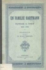 En Familie Hartmann i Danmark og Norge : 1615-1895 : Stamtavle