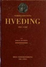 Nordlandsætta Hveding frå 1580 : med videreføring til 1995