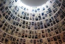 Rom med bilder av ofre for Holocaust