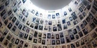 Rom med bilder av ofre for Holocaust