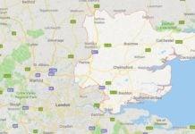 Kart som viser Essex